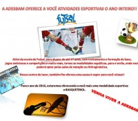 Venha participar das Atividades Esportivas na Adesbam