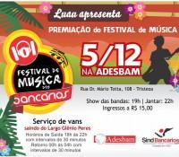 Premiação do Festival de música dos Bancários