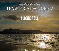RESULTADO  DO SORTEIO ALTA TEMPORADA 2016/2017
