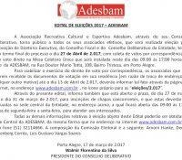 Edital de Eleições 2017 – Adesbam