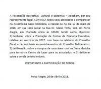 Assembléia Geral 2018