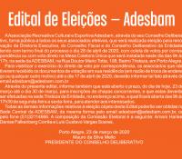 Edital das Eleições 2020/2023