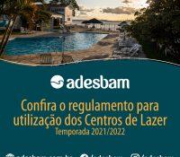 Regulamento para utilização dos Centros de Lazer – Temporada 2021/2022